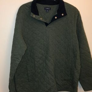 Quilted pull over sweater